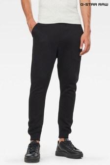 Черные трикотажные брюки С-образного кроя из премиум-коллекции G-Star