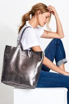 Кожаная сумка для покупок