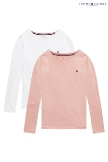 Tommy Hilfiger Pink Long Sleeve T-Shirt 2 Pack