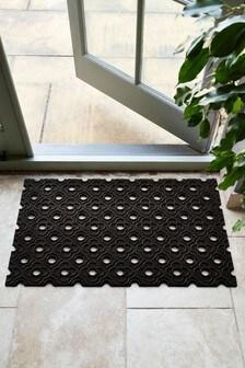 Fußmatte mit geometrischem Blumendruck