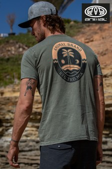 Animal Dusty Olive Green Wings Deluxe T-Shirt
