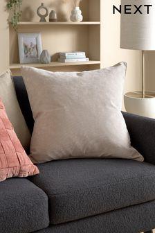 Duża miękka kwadratowa poduszka z weluru