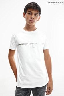 Calvin Klein Jeans White Gold Monogram T-Shirt