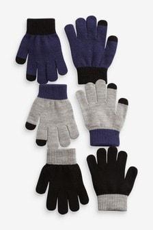 3 Pack Knitted Gloves (Older)