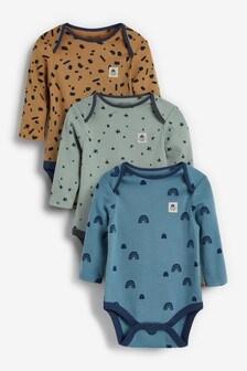 Long Sleeve Bodysuits 3 Pack (0mths-3yrs)