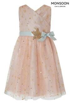 Monsoon Trinity Kinderkleid mit Stern, rosa