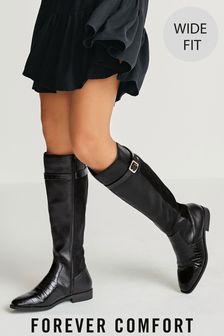 Botas de montar por la rodilla en mezcla de materiales de Forever Comfort®