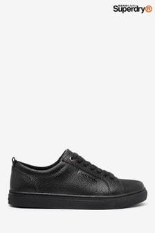 נעלי ספורט מעור של Superdry בצבע שחור