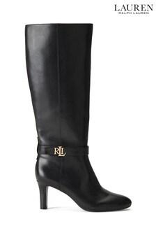 Lauren Ralph Lauren® Knee High Leather Ardington Heeled Boots