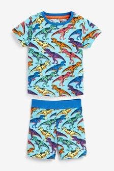 Короткая пижама с динозавром (12 мес. - 7 лет)
