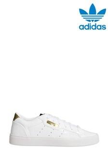 adidas Originals White/Gold Sleek Trainers
