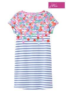 Joules Riviera Kurzärmeliges Kleid, Blau