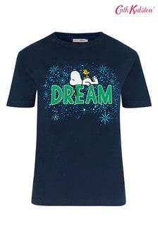 Cath Kidston® Snoopy T-Shirt mit Aufnäher, Marineblau