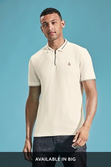Zip Neck Tipped Polo