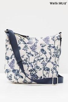 White Stuff Navy/White Willow Nylon Cross-Body Bag