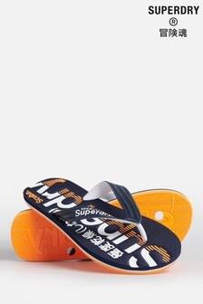 Superdry Navy Scuba Flip Flops