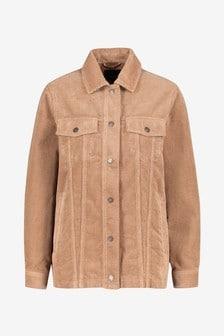 Удлиненная вельветовая куртка