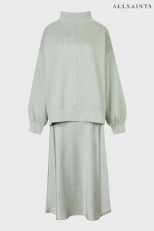 AllSaints Mint Green 2-In-1 Navarra Sweatshirt And Dress
