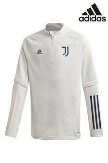 Серая тренировочная футболка ФК «Ювентус» adidas 20/21