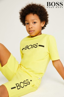 BOSS Yellow Logo T-Shirt