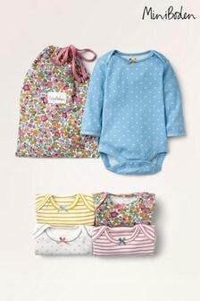 Mini Boden Multi Floral Bodysuits Five Pack