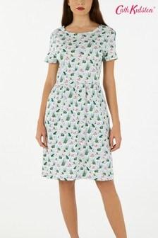 Cath Kidston® Blue Bathing Frogs Jersey Dress