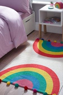 彩虹圓球毛毯