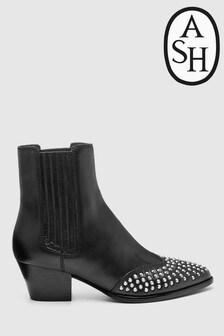 Ash Hooky Stiefel mit Ziernieten, schwarz