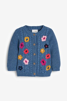 Floral Embroidery Cardigan (0mths-2yrs)