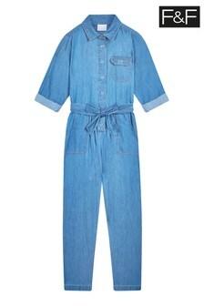 F&F Denim Boiler Suit