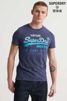 חולצת טי שלSuperdry עם לוגו וינטג' דהוי