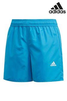 adidas Badge of Sports Badeshorts, Blau