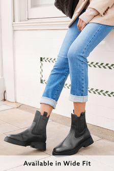 Кожаные ботинки челси с квадратным носком