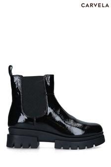 Carvela Comfort Black Run Chelsea Boots