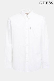 חולצה של Guess דגם Collin בצבע לבן