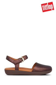 FitFlop™ Brown Cova Ii Leather  Strap Sandals