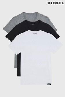 Diesel Grey, White and Black V-Neck 3 Pack T-Shirt