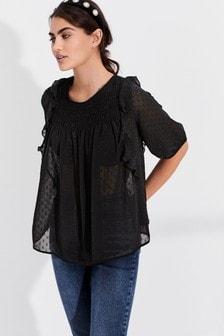 Свободная блузка с оборками