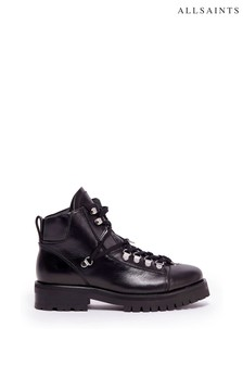 AllSaints Black Lace-Up Shoes