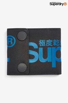 Superdry Black Popper Wallet