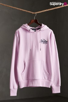 Superdry Lilac Small Script Hoody