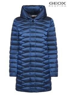 Geox Woman's Jaysen Dark Limoges Blue Down Jacket