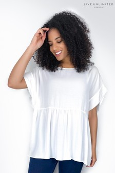 Live Unlimited White Smock Top