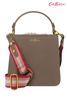 Cath Kidston® Leather Solid Small Bucket Cross Body Bag