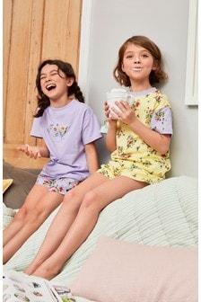 Pack de 2 pijamas cortos con estampado floral (3-16 años)