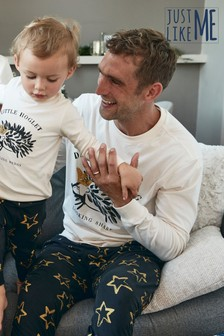 Matching Family Mens Christmas Hedgehog Pyjamas