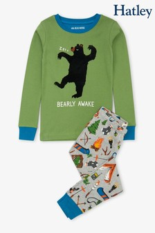 Hatley Green Retro Camping Kids Appliqué Pyjamas Set