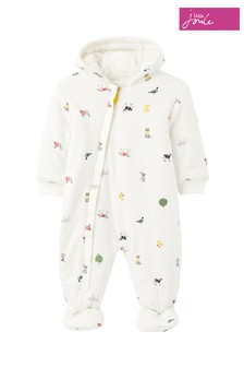 Joules White The Pramsuit