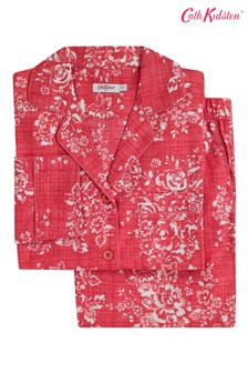 Set pijama Cath Kidston® cu mânecă lungă și model trandafiri ton prăfuit