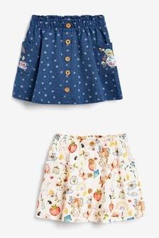2 Pack Organic Cotton Skirts (3mths-7yrs)